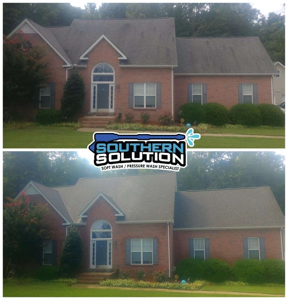 removing black streaks on roof